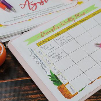 Teacher Planner for Five Preps, Fruit of the Spirit