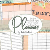Teacher Planner for Three Preps, Tribal