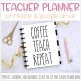 Teacher Planner is DUNN | Printable, Digital, Google Drive