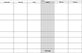 Teacher Planner pages for Printing 8 blocks Mon -Fri