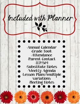 Teacher Planner with all of the extras!