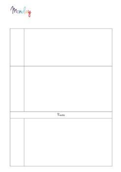Teacher Planner/Day Book For Term 2