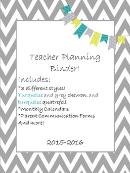 Teacher Planning Binder ***2017-2018 School Year***