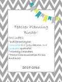 Teacher Planning Binder ***2018-2019 School Year***