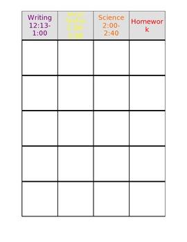 Teacher Planning Book (Editable)
