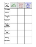 Teacher Planning Book (Editable)