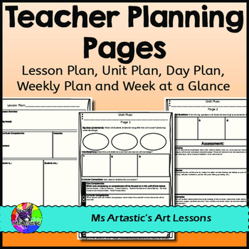 FREE Teacher Planning Pages: Unit Plan, Lesson Plan, Weekl
