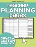 Teacher Planning Pages - Make Your Own Teacher Plan Book