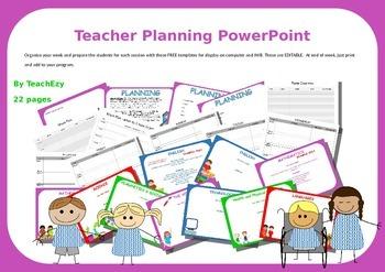 Teacher Planning PowerPoint