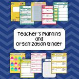 Teacher Planning and Organization Binder