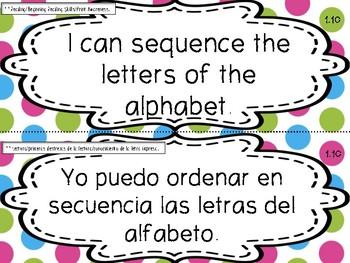 Teacher PolkaDotBilingualFirstgradeSLATEKSinEnglishandSpanish