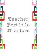 Teacher Portfolio Dividers