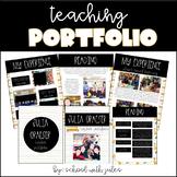 Teacher Portfolio (Editable)