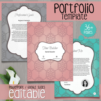Teacher Portfolio Editable Template By Cheeky Cherubs TpT