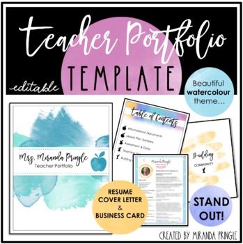 Teaching Portfolio Cover Template Suyhi Margarethaydon Com