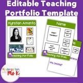 Teacher Portfolio Template: COMPLETELY EDITABLE