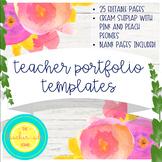 Teacher Portfolio Template: Cream Shiplap