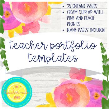Teacher Portfolio Template Cream Shiplap By The Teacher Ade