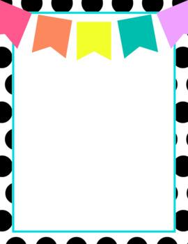 Teacher Portfolio Templates: black, white & rainbow brights