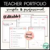 Teacher Portfolio for Interviews - Editable Template