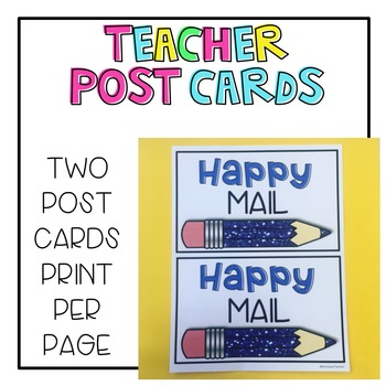 Teacher Post Cards
