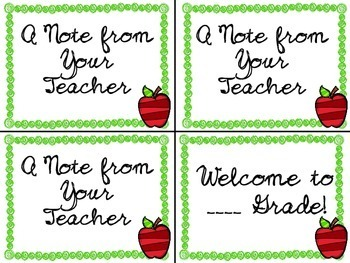 Teacher Postcards