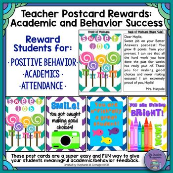 Teacher Postcards: Rewards for Positive Behavior and Academic Success