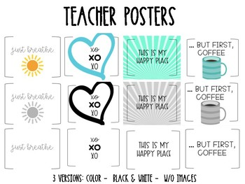 Teacher Posters! Posters for your office, classroom, lounge, restroom.