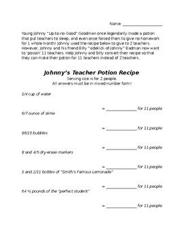Teacher Potion Fraction Scaling