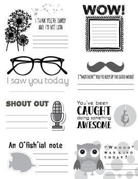 Teacher Praise Notes - Printer Friendly