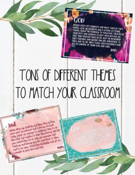 Teacher's Prayer Posters