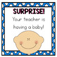 Teacher Pregnancy Announcement Word Scramble Puzzle with QR Codes
