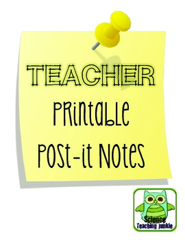 picture relating to Printable Post It Note named Instructor Printable Write-up-it Notes FREEBIE