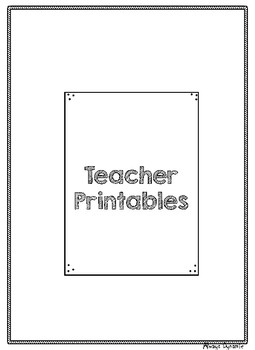 Teacher Printables