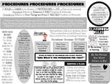 Teacher Procedure Reference Page