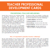 Teacher Professional Development Discussion cards - Wellbeing