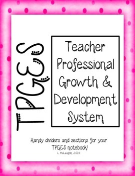 Teacher Professional Growth and Effectiveness (TPGES) Cover Sheets & Dividers