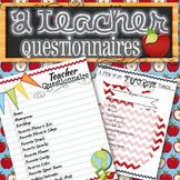 2 Teacher Questionnaires