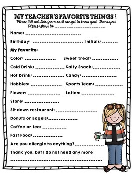 Teacher Questionnaire: FREEBIE!