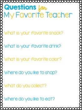 Teacher Questions