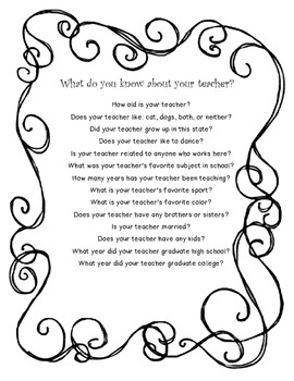 Teacher Quiz