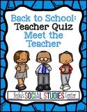 Back to School: Meet the Teacher Activity