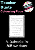 Teacher Quote Colouring Page - Free