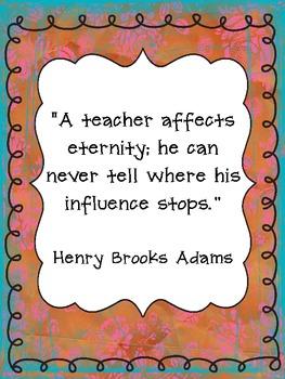 Teacher Quote Posters FREEBIE