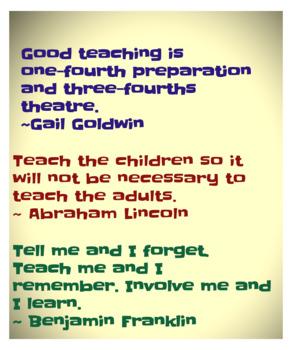 Teacher Quotes 1 (Poster)