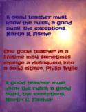 Teacher Quotes 2 (Poster)