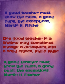 Teacher Quotes 2 (Poster)