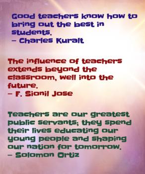 teacher quotes poster by a r mathematics teachers pay teachers