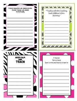 Teacher Quotes Note Pad