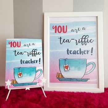 Teacher Quotes Poster { Watercolor } FREE SAMPLE